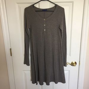 Sweater Dress with Pearlescent Button Detail